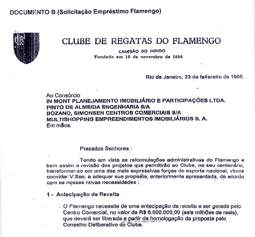 Flamengo solicita empréstimo ao Consórcio Plaza