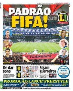 Capa do Jornal Lance-RJ - 27/07/14