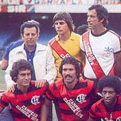 Bosco, em pé à esquerda, ao lado de Cantareli e Coutinho, em 1978.