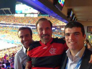 Roger Flores, Jorge Perez e Eduardo Leite