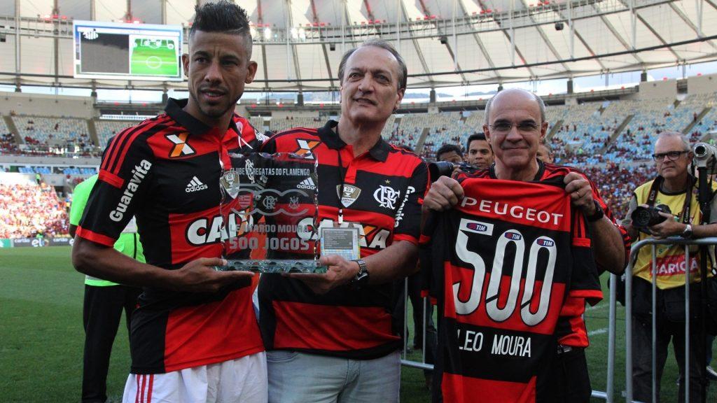 Dois dos maiores laterais da história do Flamengo: Léo Moura e Leandro. (foto: Gilvan de Souza)