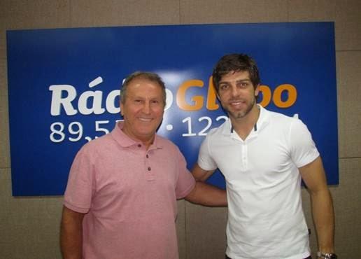 Zico e Juninho (Foto: Patricia Ingo/Rádio Globo))