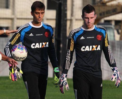 Os goleiros César e Paulo Victor (Foto: Flamengo/Divulgação)