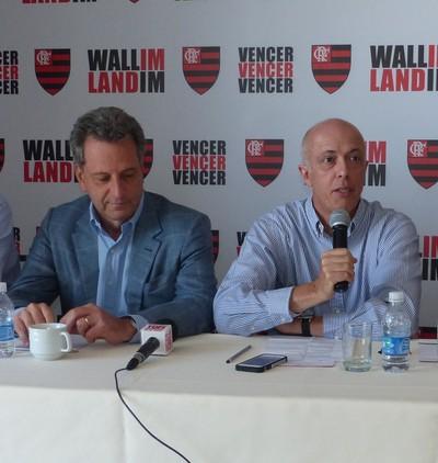 """Landim (à esquerda) atualmente é o vice de Wallim na chapa """"Vencer, vencer, vencer"""" (Foto: Fred Gomes)"""