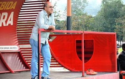 Eduardo Bandeira em treino do Flamengo (Foto: Cahê Mota)
