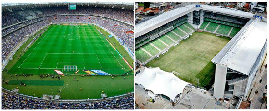 Mineirão e Estádio Independência.