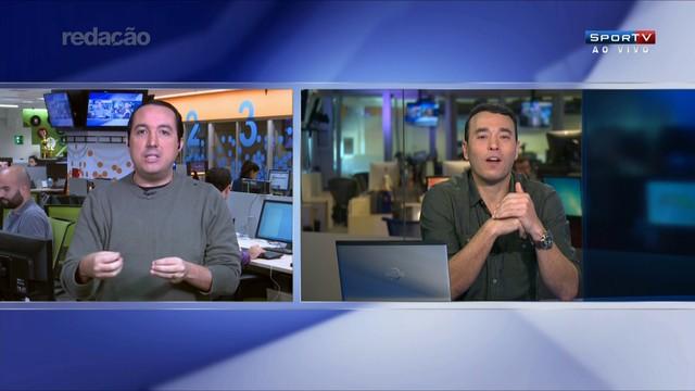 Carlos Cereto e André Rizek em ação (reprodução da TV).