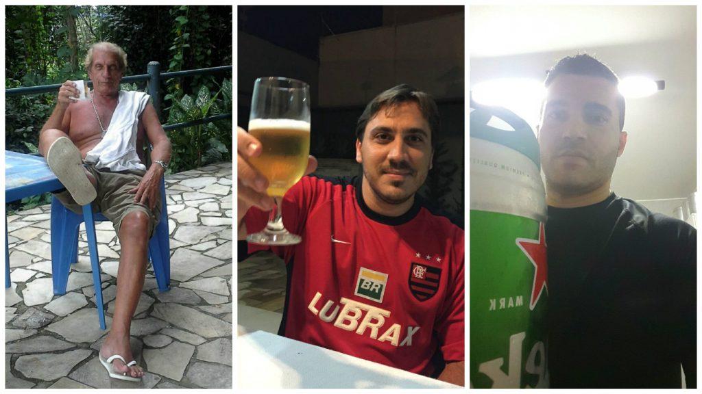 O amigo Egon, e seu pé sujo, Pedro C. de Oliveira Filho e Leandro, pai do nosso mascote, Manu!