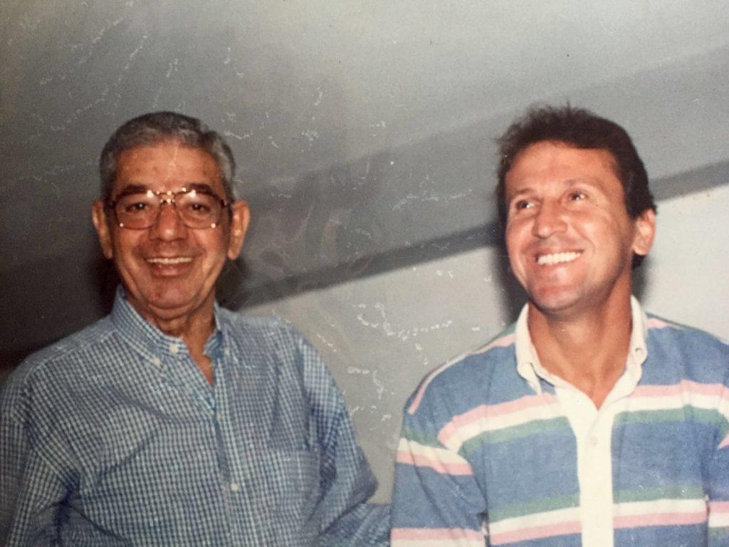 Celso Garcia e Zico.