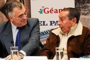 """O """"guru"""" Atílio Garrido, ao lado do saudoso Ghiggia."""