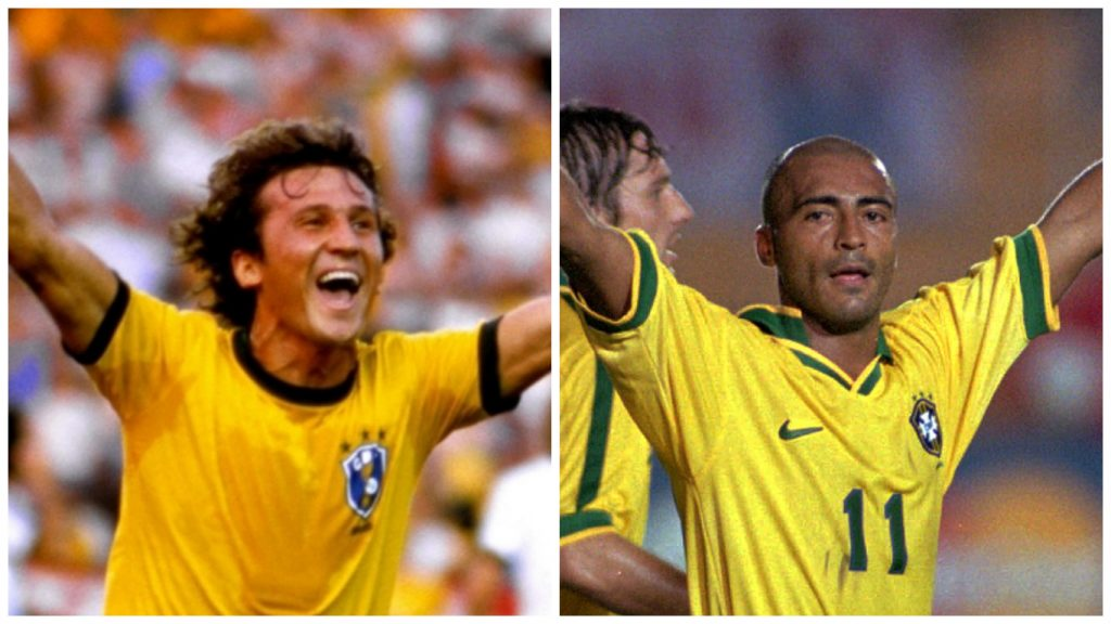 Zico e Romário.